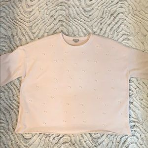 Cute! Women's Plus 2X Cropped Sweater w/ Pearls